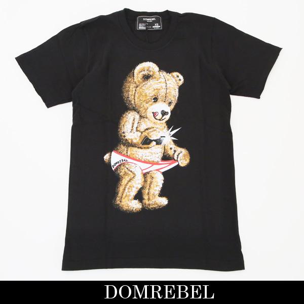 DOMREBEL(ドムレーベル)【メンズウェア】スワロフスキー仕様半袖TシャツブラックSNAP