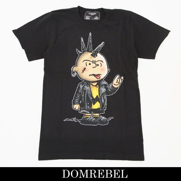 DOMREBEL(ドムレーベル)【メンズウェア】スワロフスキー仕様半袖TシャツブラックCHUCK