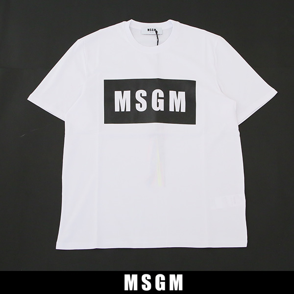 MSGM(エムエスジーエム)半袖Tシャツホワイト2440MM67 195298