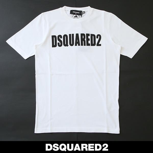 Dsqared(ディースクエアード)レディースロゴ半袖TシャツホワイトS72GD0147