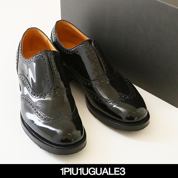 1PIU1UGUALE3(ウノピゥウノウグァーレトレ)WINGTIP GOAブラックMRG323 COW098