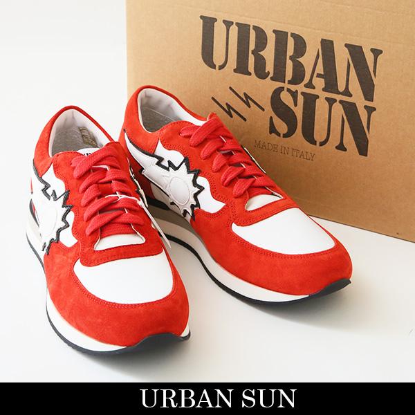 URBAN SUN(アーバンサン)スニーカーホワイト×レッドVINCENT 205