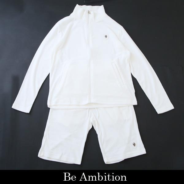 Be Ambition(ビーアンビション)パイル素材セットアップ ホワイトL29101