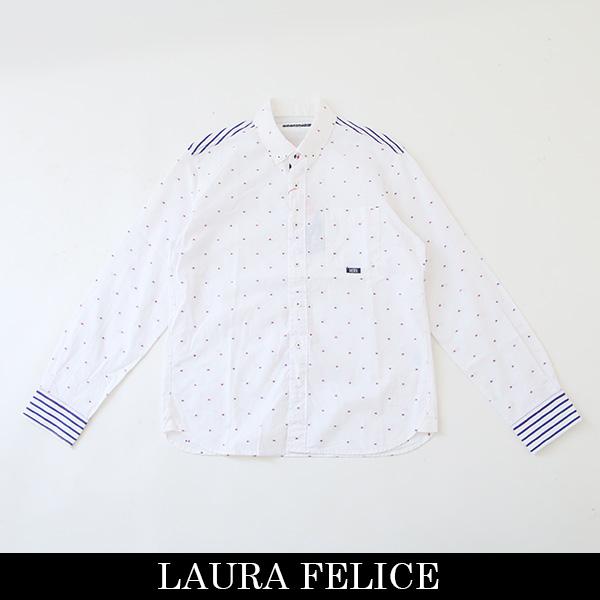 LauraFelice(ラウラ・フェリーチェ)長袖カジュアルシャツホワイト系134 3109 11