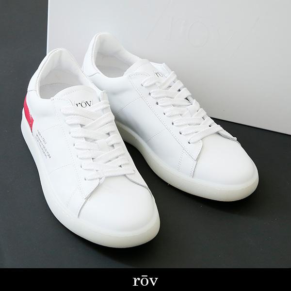 ROV(ローヴ)レディーススニーカーホワイト×レッドBASIC VERS 142