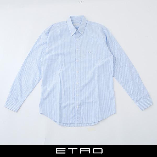 ETRO(エトロ)ボタンダウンシャツサックス系13864 3308 250
