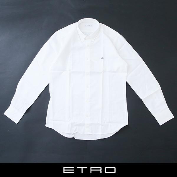 ETRO(エトロ)ボタンダウンシャツホワイト(ペイズリー柄)13864 3871 990