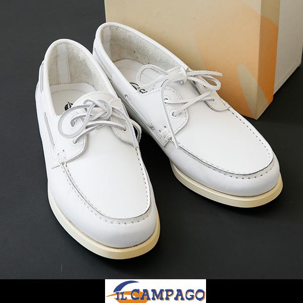 IL CAMPAGO(イル カンパゴ)メンズデッキシューズホワイトCA128 056 01