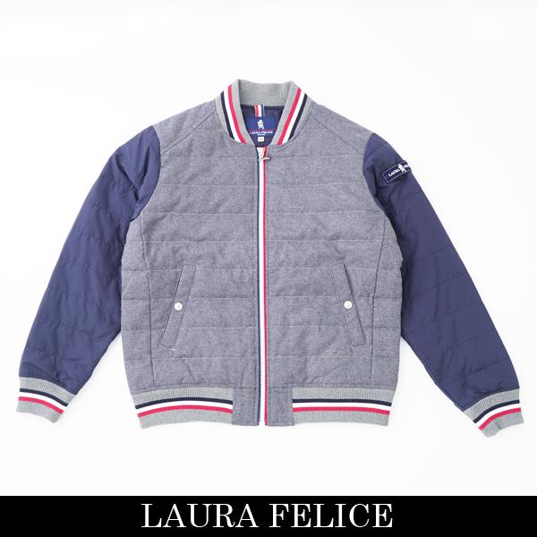 LauraFelice(ラウラフェリーチェ)ダウンジャンバーグレー×ネイビー133 1010 15