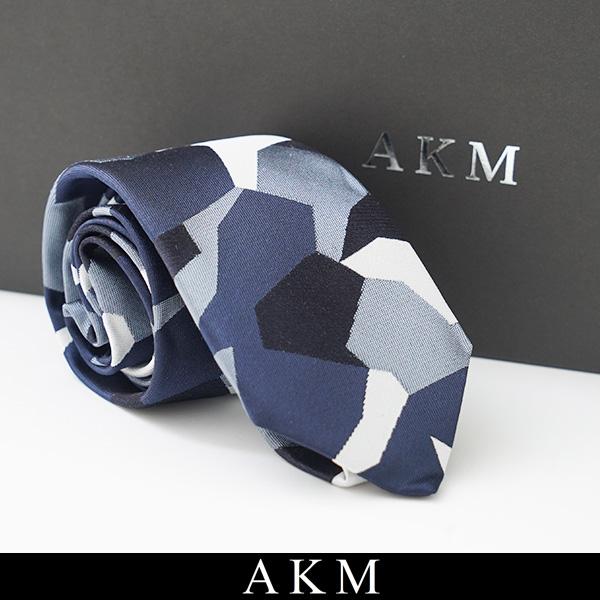 AKM(エイケイエム)ネクタイネイビー系G208 SLK008