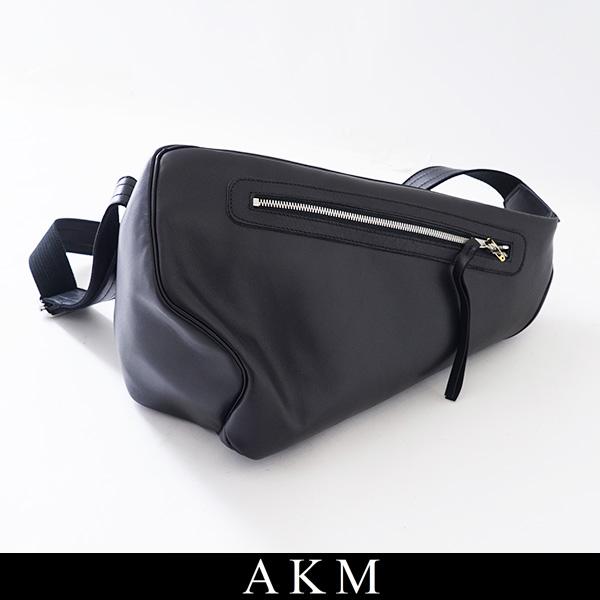 LMB022 FOLD AKM(エイケイエム)ボディーバックMINI BAGブラックG299