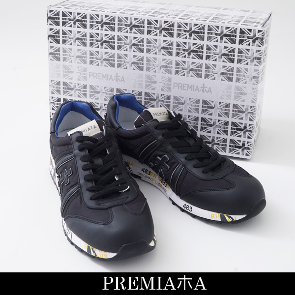 PREMIATA WHITE(プレミアータ)スニーカーブラックLUCY 2626