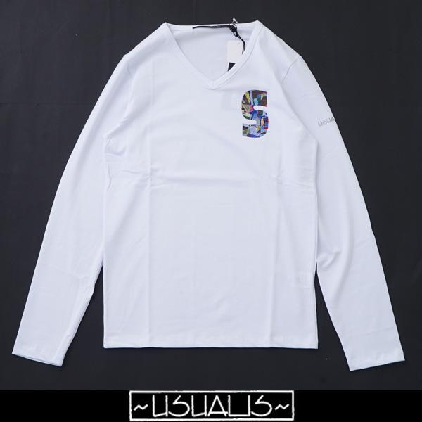 USUALIS(ウザリス)ロングTシャツホワイトU7480M