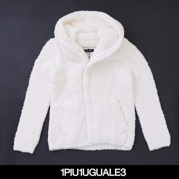 1PIU1UGUALE3(ウノピゥウノウグァーレトレ)SPIGA TEDDY ZIP PARKAホワイトMRK194-WOA006