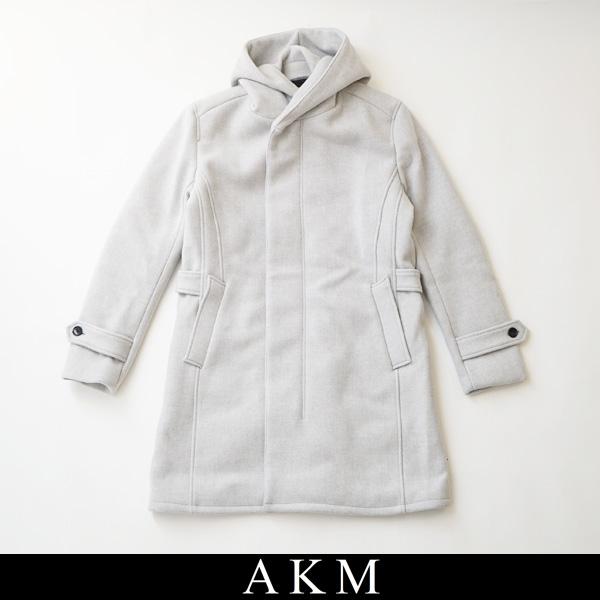 AKM(エイケイエム)HOODED ROPE COATコートライトグレーC060 WOL027