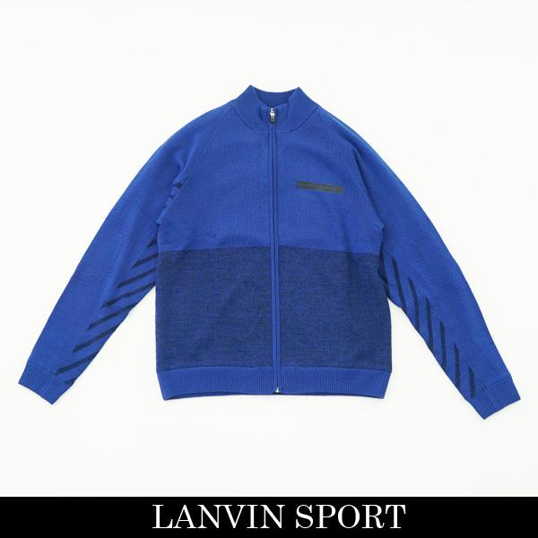 LANVIN SPORT(ランバン スポール)フルジップアップセーターブルー系VMM4074B8 BL3