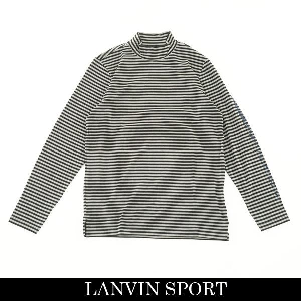 LANVIN SPORT(ランバン スポール)ハイネックロングTシャツブラック×グレーVMM107216 BK04