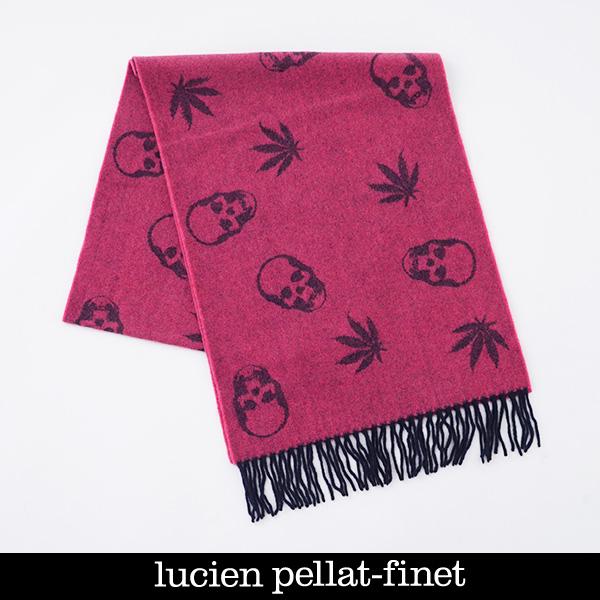 Lucien Pellat-finet(ルシアンペラフィネ)ニットマフラーレッド系349 68432