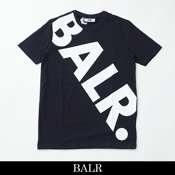 BALR(ボーラー)【メンズウェア】半袖TシャツTILTED LOGO T-SHIRTブラック10456