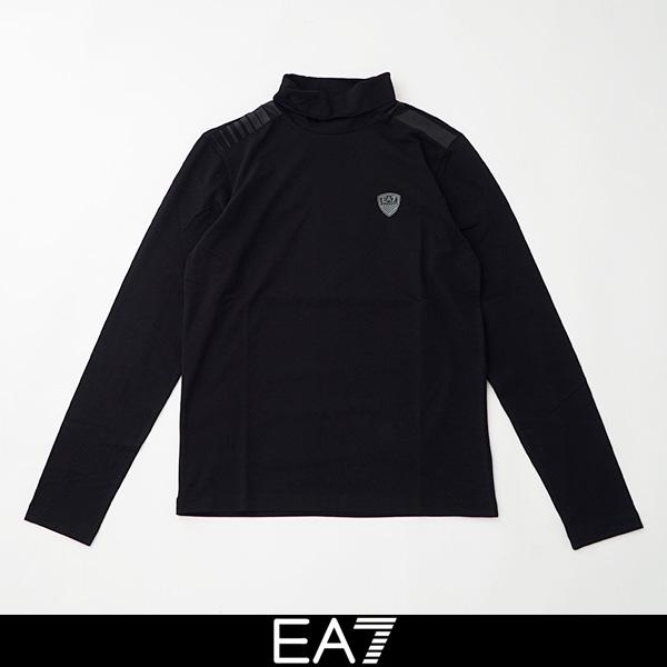 EMPORIO ARMANI(エンポリオ アルマーニ)モックタートルネック長袖 TシャツモックタートルネックロングTシャツブラック6GPT94 PJP6Z