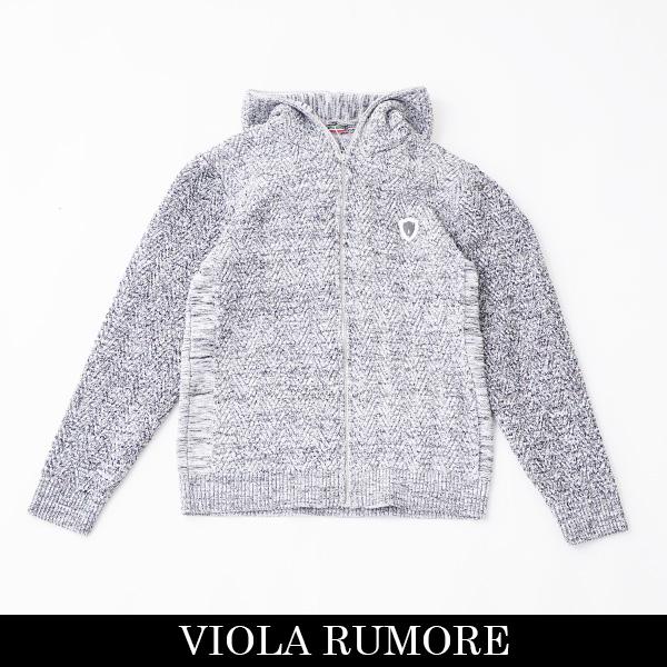 VIOLA rumore(ヴィオラルモア)ジップアップパーカーグレー系P01137