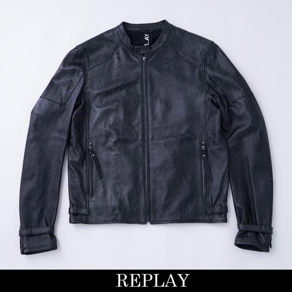 REPLAY(リプレイ)レザージャンバーグレー系M8991 000 71760