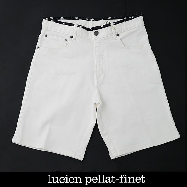 lucien pellat-finet(ルシアンペラフィネ)ハーフパンツショートパンツホワイト213 12504