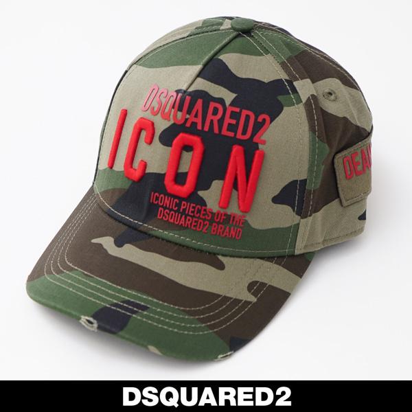 DSQUARED 2(ディースクエアード)キャップカモフラ柄BCM0290