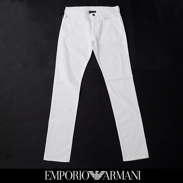 EMPORIO ARMANI(エンポリオアルマーニ)ストレッチジーンズストレッチデニムホワイト3H1J06 1N4ZZ