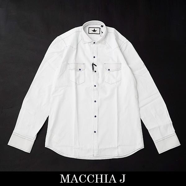 Macchia J(マッキア ジェイ)カジュアルシャツサックス系UMJ 0508003(SM.1668.T.DENN.92)