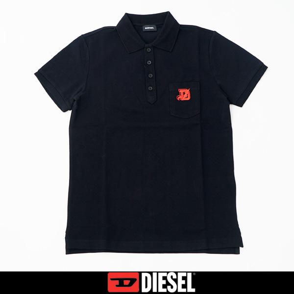 DIESEL(ディーゼル)半袖ポロシャツブラック00S645 0MXZA