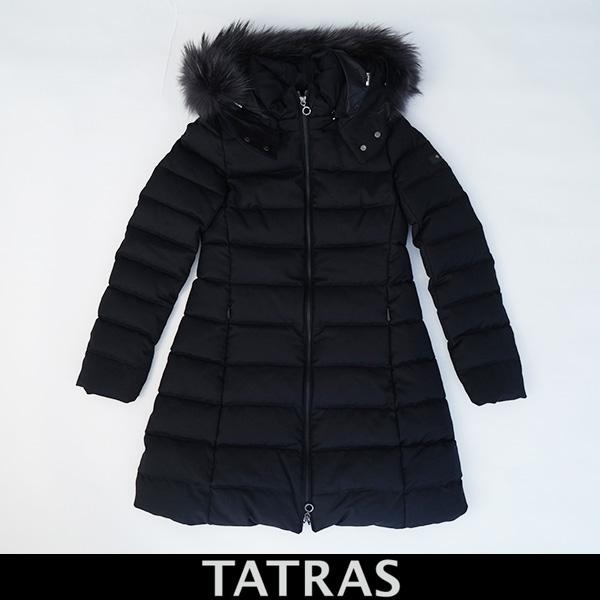 SALE TATRAS タトラス 海外輸入 ラヴィアナ ふるさと割 DLAVIANA ラクンファーフード付きダウンコートレディースウェアーLTAT20A4571