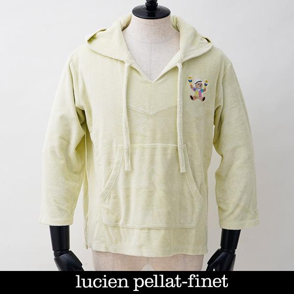 新品未使用 2021SS新作 Lucien Pellat-finet ルシアンペラフィネ パイル素材パーカーグリーン系213 YMP973U メーカー公式ショップ 33400