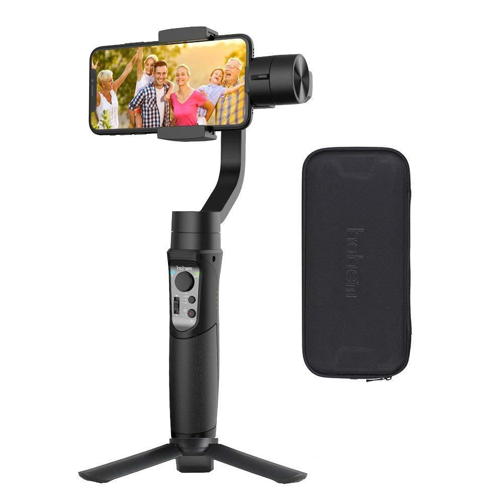 3軸 ジンバル スタビライザー ハンドヘルド スマートフォン 運動遅延撮影/ズーム機能 顔/オブジェクト追跡撮影 Hohem iSteady Mobile