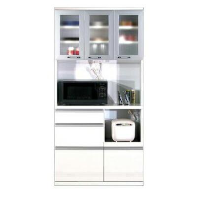食器棚 エトワール90 オープン WHT(ホワイト)