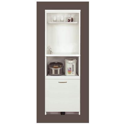 【ポイント10倍 ~8/9 1:59まで】食器棚 ポプラ 60P W ホワイト【キッチンボード】