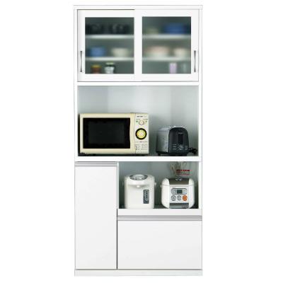 オープンタイプ食器棚 FT-4 85幅 ホワイト【キッチンボード】【高橋木工】
