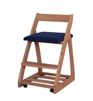 木製チェア ルナ 〔ネイビー〕【シンプル】【ナチュラル】【杉工場】【学習机】