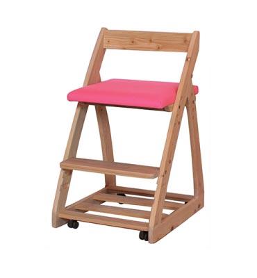 木製チェア ルナ 〔チェリー〕【シンプル】【ナチュラル】【杉工場】【学習机】