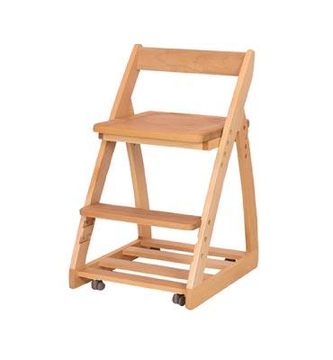 木製チェア レオ 〔板座〕【シンプル】【ナチュラル】【杉工場】【学習机】