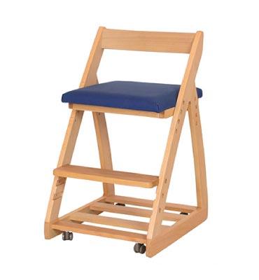 木製チェア レオ 〔ネイビー〕【シンプル】【ナチュラル】【杉工場】【学習机】