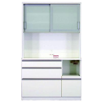 食器棚 カリノ 120オープン ホワイト【キッチン収納】【高橋木工】