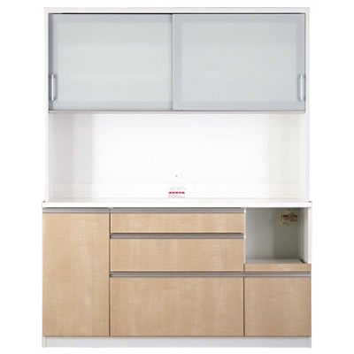 食器棚 カリノ 160オープン シカモア【キッチン収納】【高橋木工】