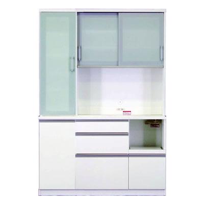 食器棚 カリノ 140 DOP ホワイト【キッチン収納】【高橋木工】