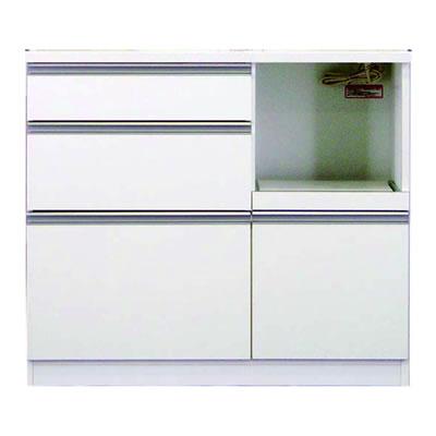 食器棚 カリノ 100カウンター ホワイト【キッチン収納】【高橋木工】