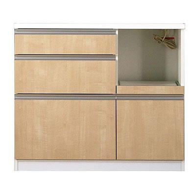 食器棚 カリノ 100カウンター シカモア【キッチン収納】【高橋木工】