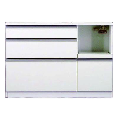 食器棚 カリノ 120カウンター ホワイト【キッチン収納】【高橋木工】