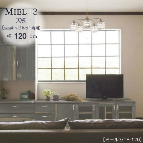 壁面収納 MIEL-3/ミール 天板 TE-120 【国産】【ユニット】【すえ木工】