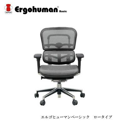 デスクチェア エルゴヒューマンベーシック EH-LAM ロータイプ【リクライニング 高機能 メッシュチェアー 高機能】