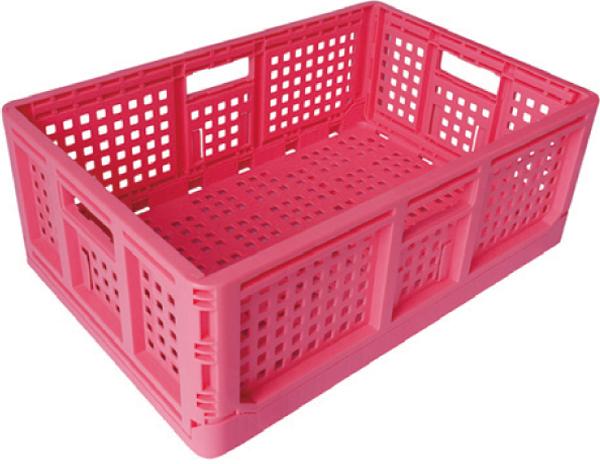 コンテナ広場 収納に便利 使用しない時には折りたためます 安全興業製 折りたたみコンテナ 収納ボックス 付与 小物入れ 収穫コンテナ 収納 ピンク 店舗